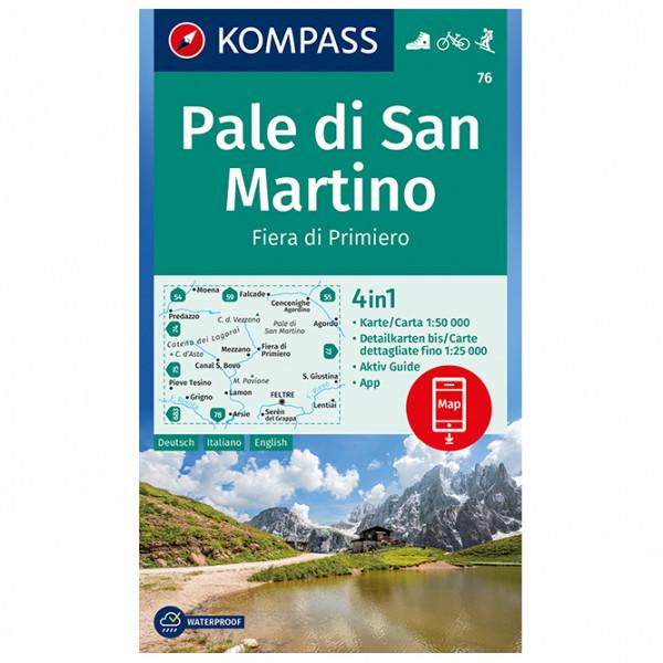 Pale di San Martino, Fiera di Primiero - Hiking map