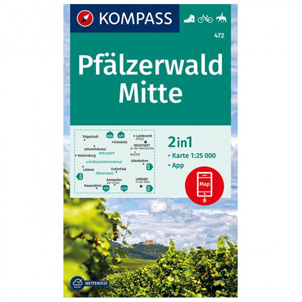 Kompass - Pfälzerwald Mitte - Wanderkarte