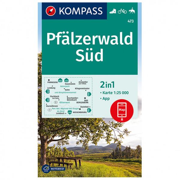 Kompass - Pfälzerwald Süd - Mapa de senderos