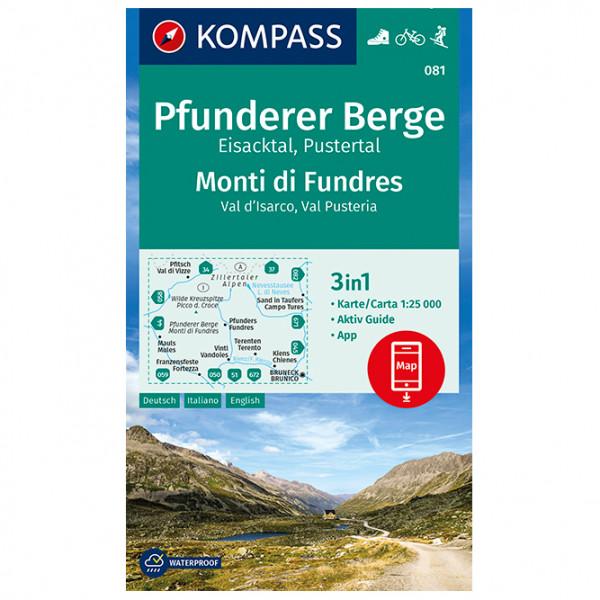 Kompass - Pfunderer Berge, Eisacktal, Pustertal - Wanderkarte