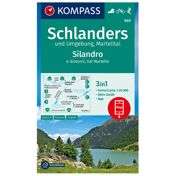 Kompass - Schlanders und Umgebung, Martelltal - Mapa de senderos