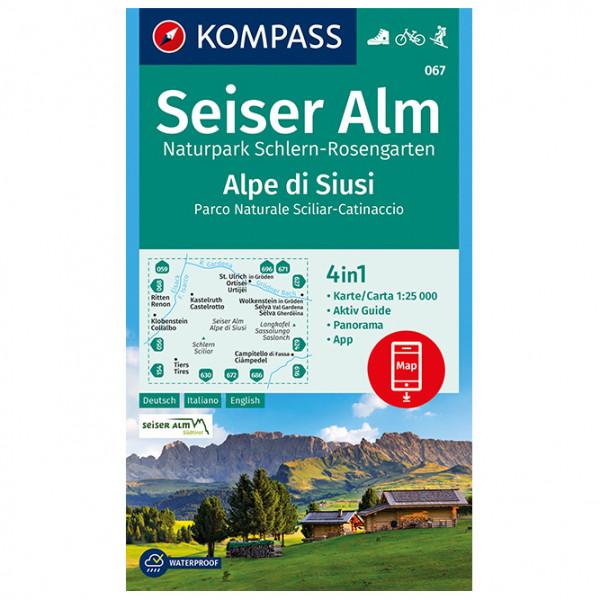 Kompass - Seiser Alm, Naturpark Schlern-Rosengarten - Vandringskartor
