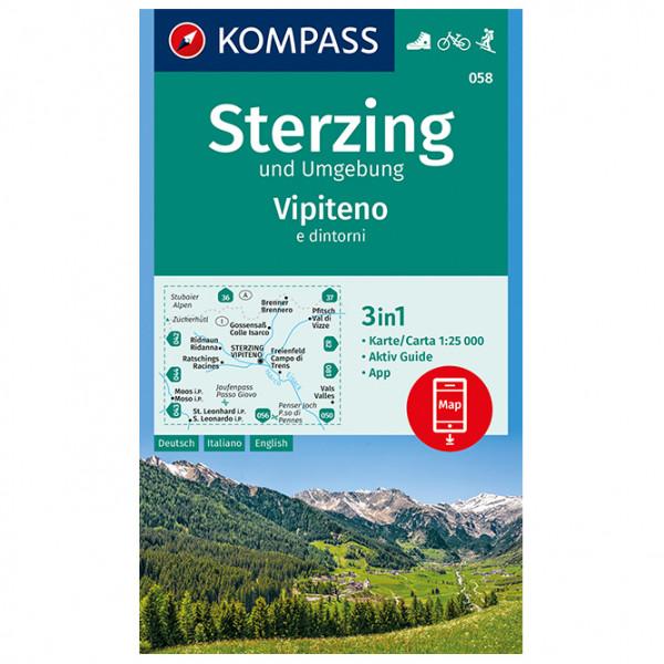 Kompass - Sterzing und Umgebung, Vipteno e dintorni - Wandelkaarten