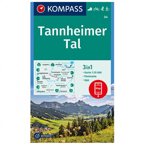 Kompass - Tannheimer Tal - Carte de randonnée