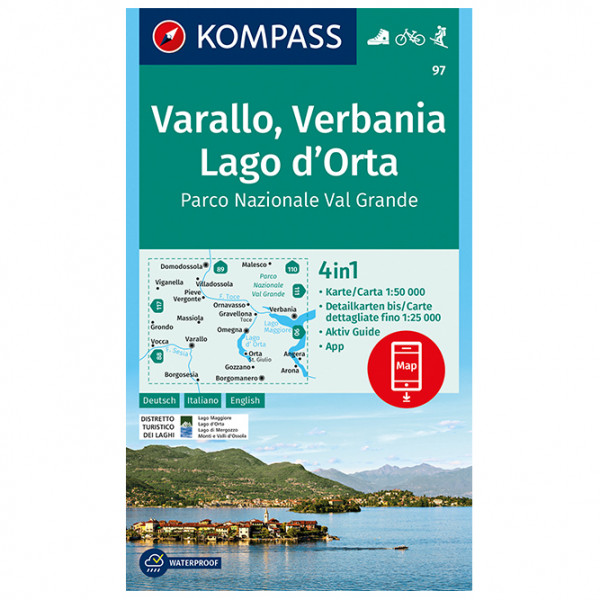 Kompass - Varallo, Verbania, Lago d'Orta, Parco Nazionale - Wanderkarte