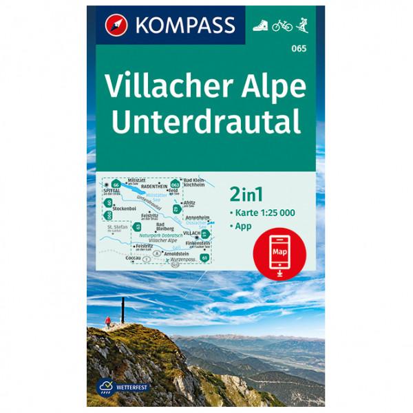 Kompass - Villacher Alpe, Unterdrautal - Wanderkarte
