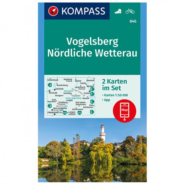 Kompass - Vogelsberg, Nördliche Wetterau - Wandelkaarten