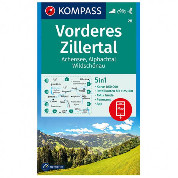Kompass - Vorderes Zillertal, Achensee, Alpbachtal - Vaelluskartat