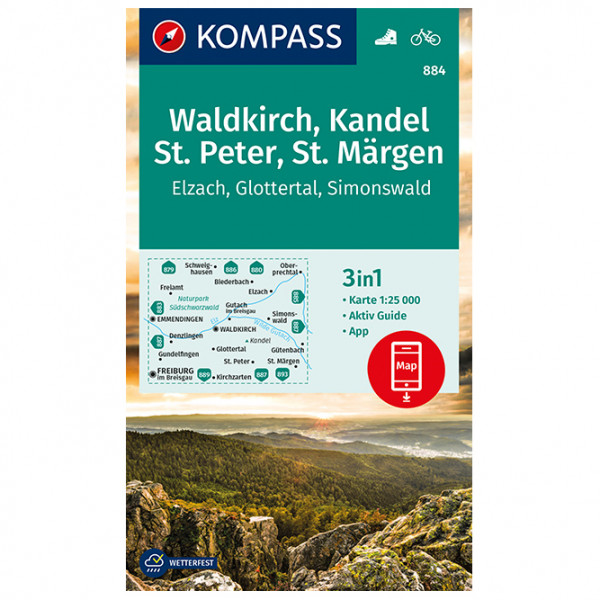 Kompass - Waldkirch, Kandel, St.Peter, St. Märgen - Vandringskartor