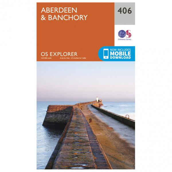 Ordnance Survey - Aberdeen / Banchory - Vaelluskartat
