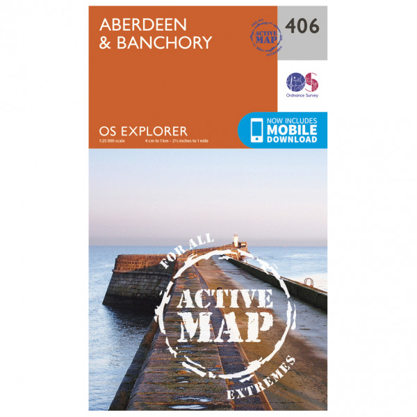 Ordnance Survey - Aberdeen / Banchory Waterproof - Hiking map