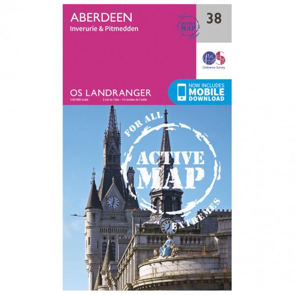 Ordnance Survey - Aberdeen Waterproof - Vaelluskartat