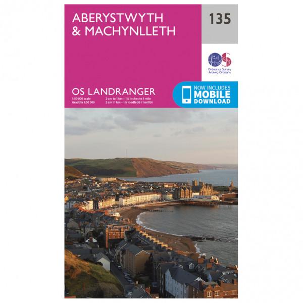 Ordnance Survey - Aberystwyth / Machynlleth L135 - Wanderkarte
