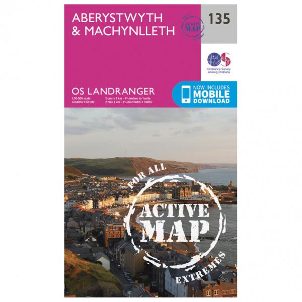 Ordnance Survey - Aberystwyth / Machynlleth Waterproof - Vaelluskartat