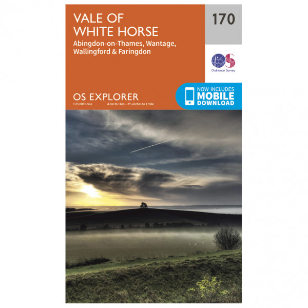 Ordnance Survey - Abingdon / Wantage / Vale Of White Horse - Hiking map