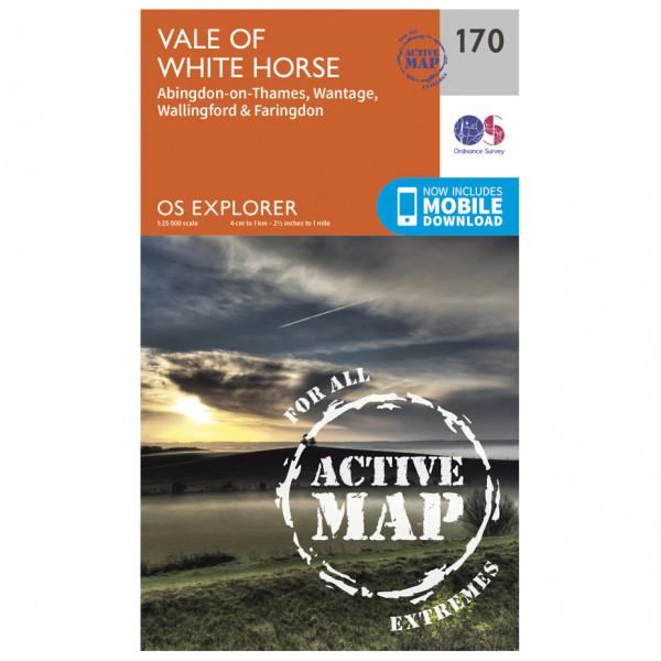 Ordnance Survey - Abingdon / Wantage / Vale Waterproof - Wandelkaarten