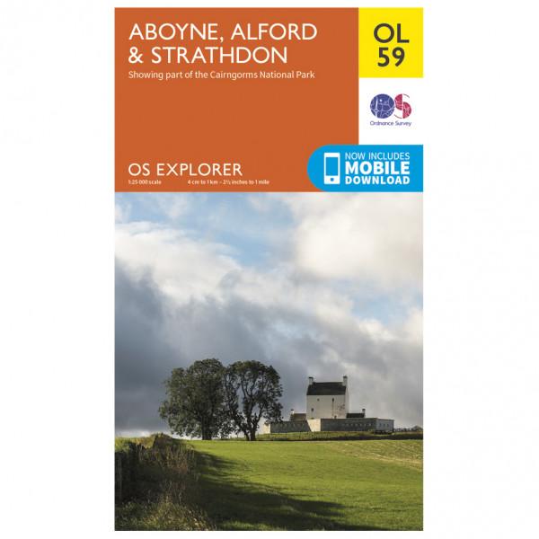 Ordnance Survey - Aboyne / Alford / Strathdon Outdoor - Vandringskartor