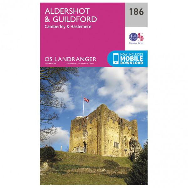 Ordnance Survey - Aldershot / Guildford - Vandringskartor
