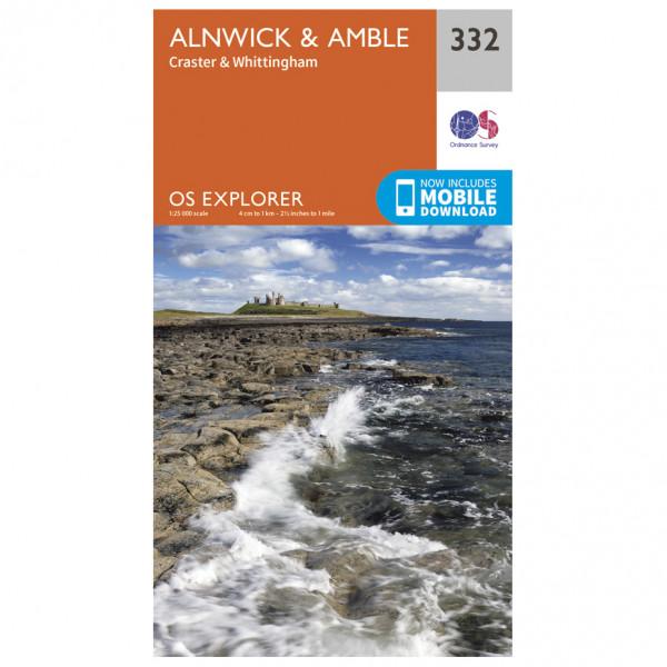 Ordnance Survey - Alnwick / Amble - Hiking map