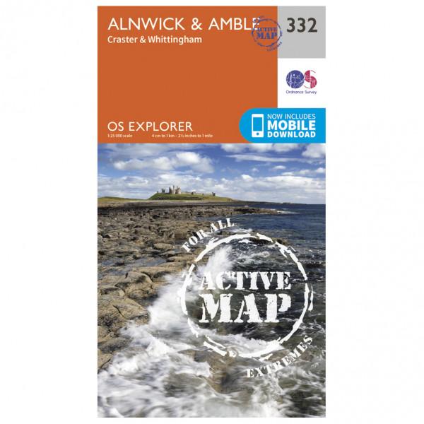 Ordnance Survey - Alnwick / Amble Waterproof - Hiking map