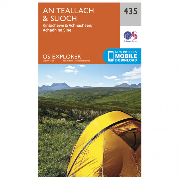 Ordnance Survey - An Teallach / Slioch EXP435 - Wanderkarte