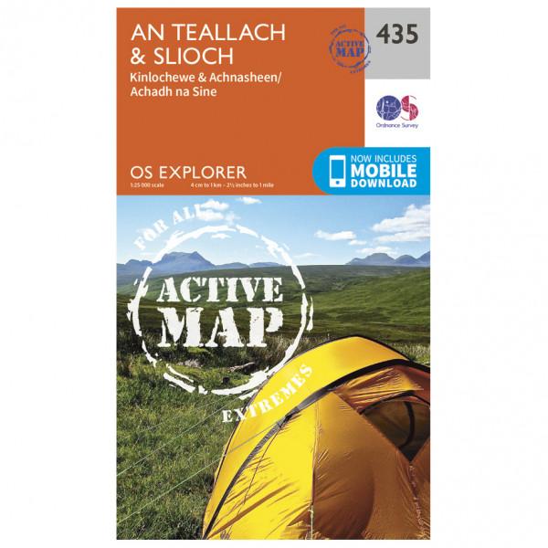 Ordnance Survey - An Teallach / Slioch Waterproof - Vaelluskartat