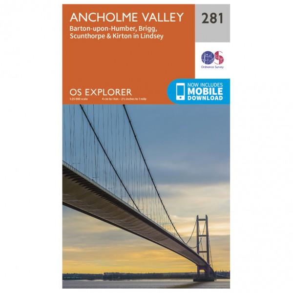 Ordnance Survey - Ancholme Valley - Mapa de senderos