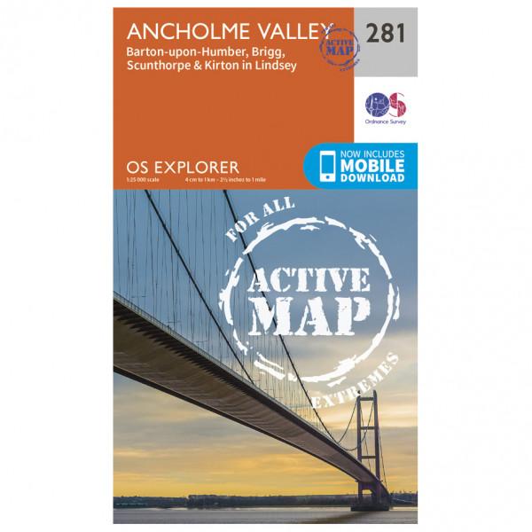 Ordnance Survey - Ancholme Valley Waterproof - Hiking map