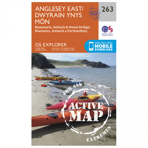 Ordnance Survey - Anglesey East Waterproof - Hiking map