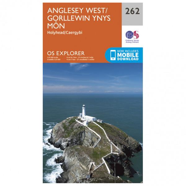 Ordnance Survey - Anglesey West - Vaelluskartat