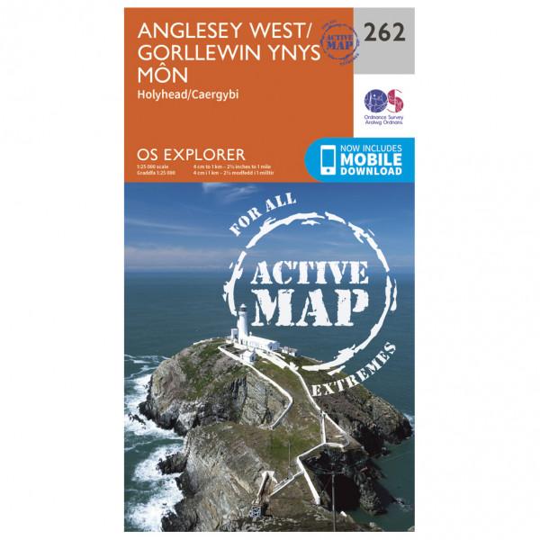 Ordnance Survey - Anglesey West Waterproof - Vandrekort