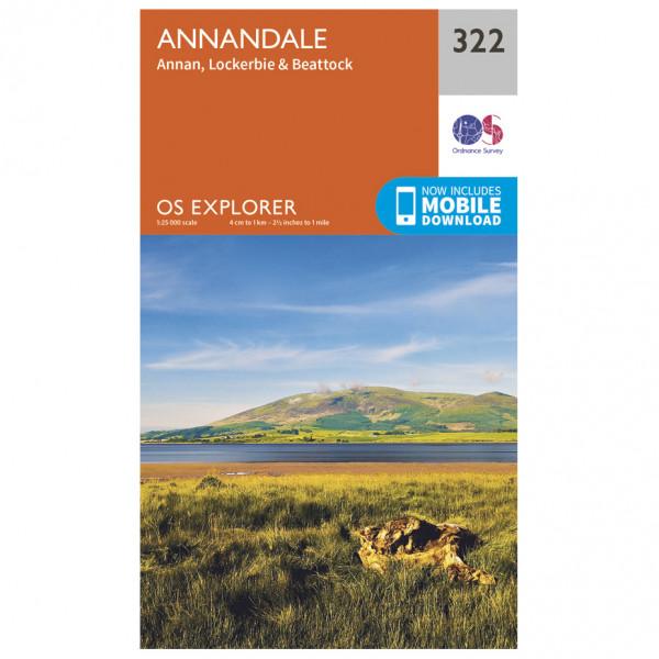 Ordnance Survey - Annandale - Mapa de senderos
