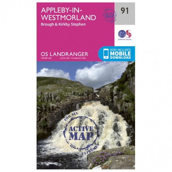 Ordnance Survey - Appleby-In-Westmorland Waterproof - Carte de randonnée