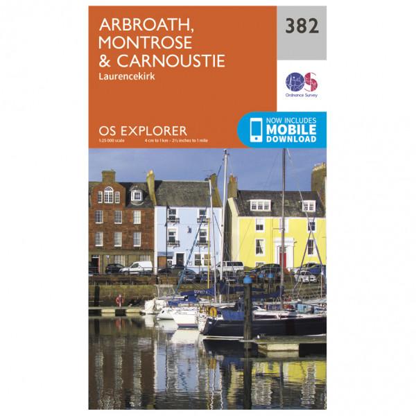 Ordnance Survey - Arbroath / Montrose / Carnoustie - Wandelkaart