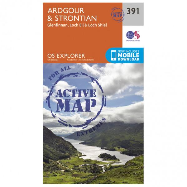 Ordnance Survey - Ardgour / Strontian Waterproof - Vaelluskartat