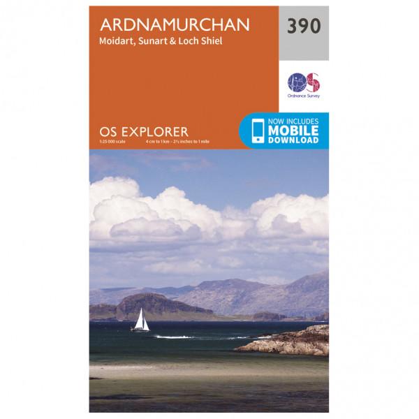 Ordnance Survey - Ardnamurchan - Hiking map