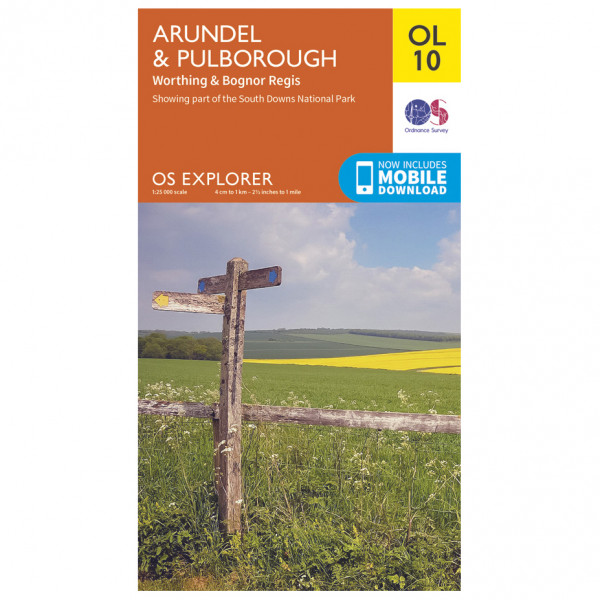 Ordnance Survey - Arundel / Pulborough / Worthing Outdoor - Vandringskartor