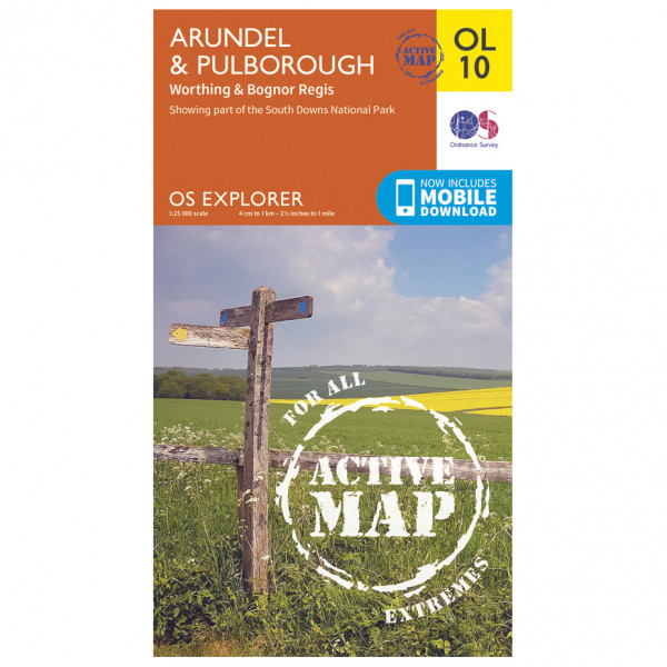 Ordnance Survey - Arundel / Pulborough / Worthing Waterproof - Vandrekort