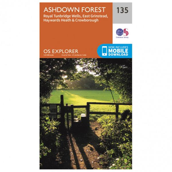 Ordnance Survey - Ashdown Forest (Greenw) - Vandrekort