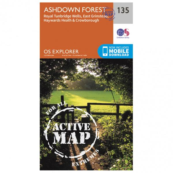 Ordnance Survey - Ashdown Forest / Royal Tunbridge Wells Waterproof EXPL135 - Wanderkarte