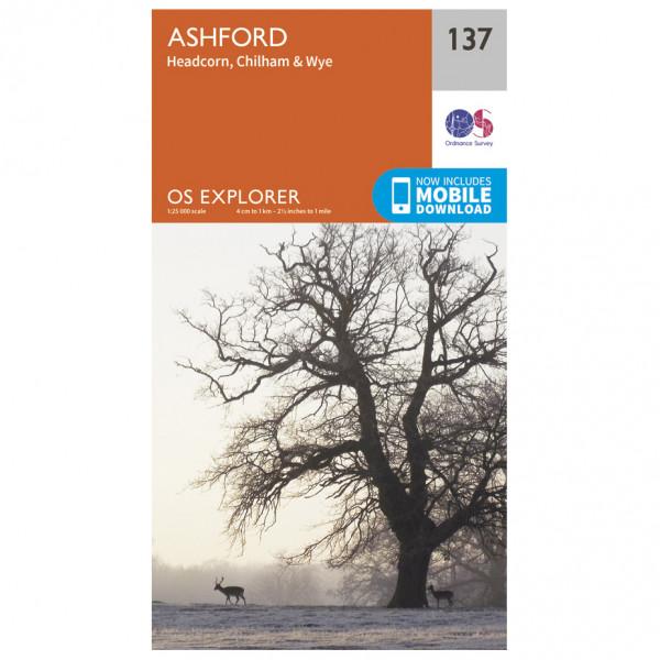 Ordnance Survey - Ashford - Vandringskartor