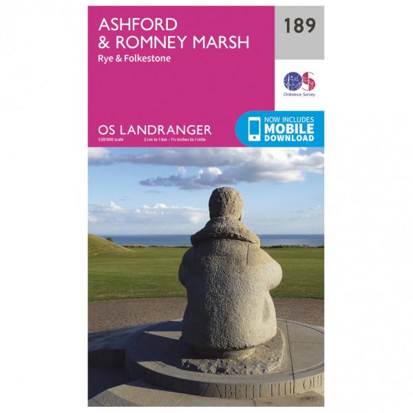 Ordnance Survey - Ashford / Romney Marsh - Vaelluskartat
