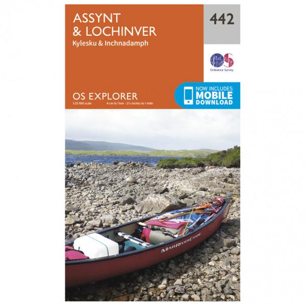 Ordnance Survey - Assynt / Lochinver EXP442 - Wanderkarte