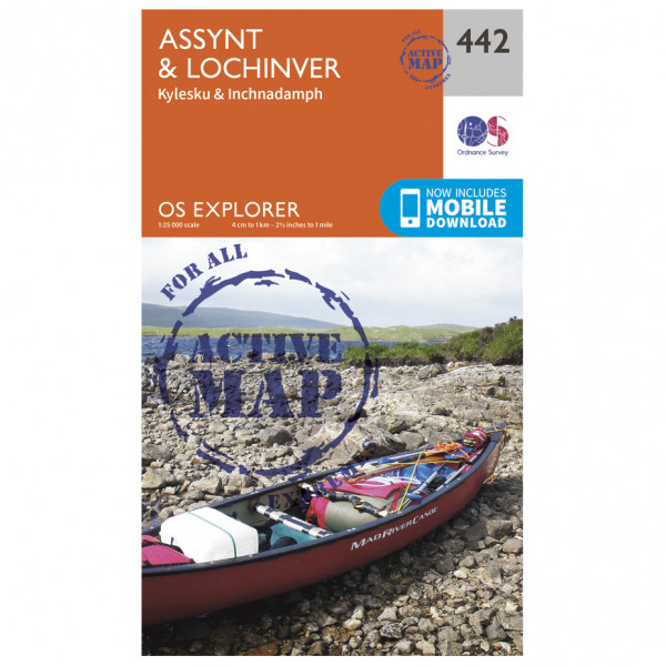 Ordnance Survey - Assynt / Lochinver Waterproof EXPL442 - Wanderkarte