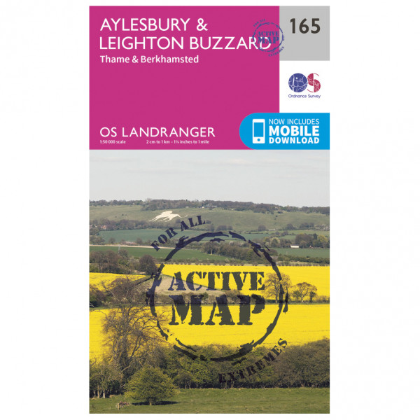 Ordnance Survey - Aylesbury / Leighton Buzzard Waterproof - Vaelluskartat