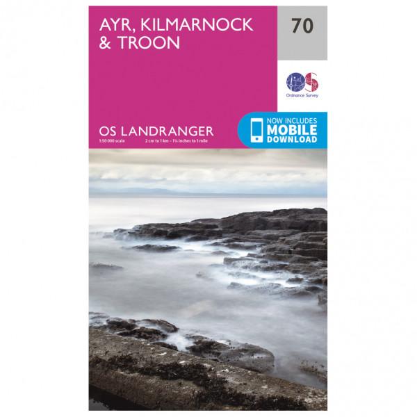 Ordnance Survey - Ayr / Kilmarnock / Troon - Hiking map