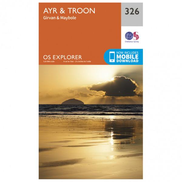 Ordnance Survey - Ayr / Troon - Vandrekort