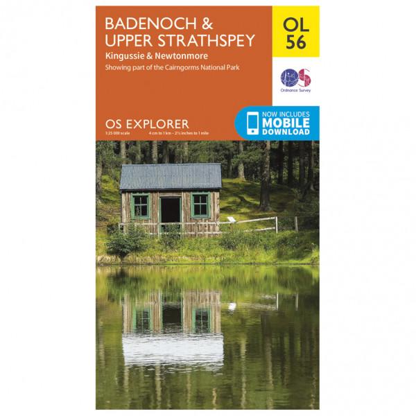 Ordnance Survey - Badenoch / Upper Strathspey / Kingussie Outdoor - Mapa de senderos