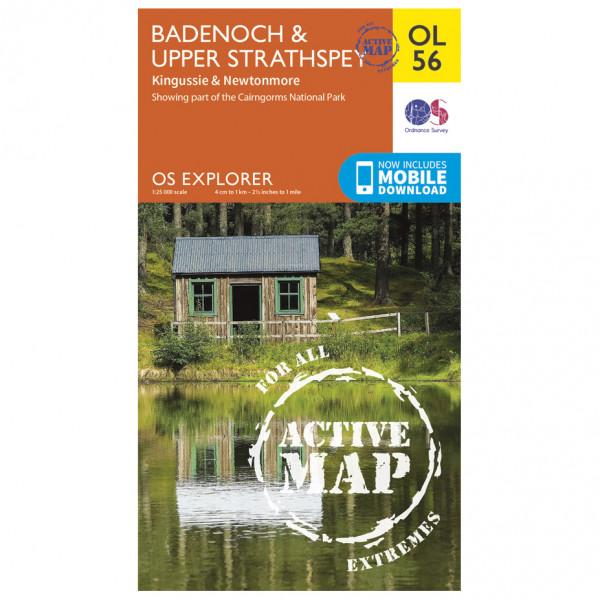 Ordnance Survey - Badenoch / Upper Strathspey / Kingussie Waterproof - Vaelluskartat