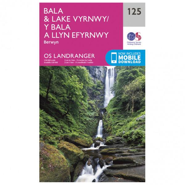 Ordnance Survey - Bala / Lake Vyrnwy L125 - Wanderkarte